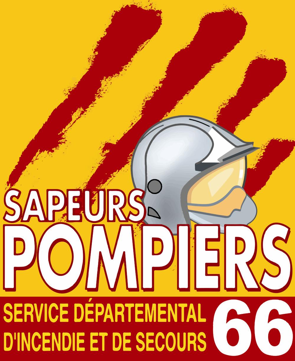 Logo du SDIS66, en-tête